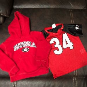 Other - Boys UGA Apparel 3T Sweatshirt and Jersey